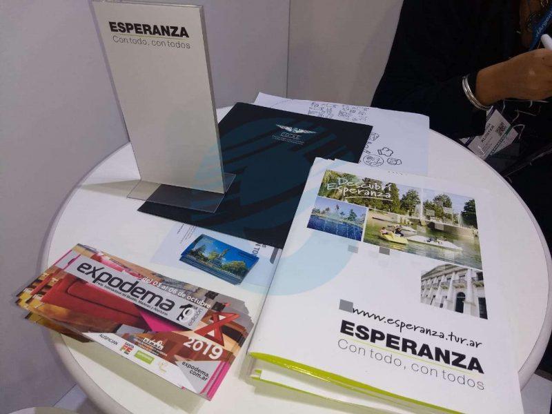 Esperanza estuvo presente en una muestra de turismo
