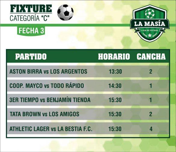 Este sábado se jugará la tercera fecha en «Liga La Masía»