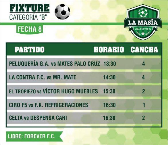 Este sábado se juega la octava en la «Liga La Masía»
